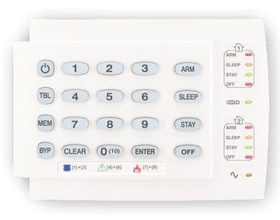 K10 - H Ovládací klávesnice sLED displejem pro ústředny SPECTRA