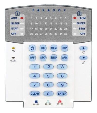 SP/MG-K32-LRF Bezdrátová ovládací klávesnice pro ústředny SP/MG