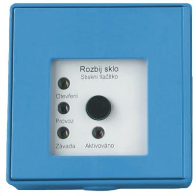 MHA-901-B Tlačítkový hlásič speciální se 4 LED pro požární odvětrávání - modrý