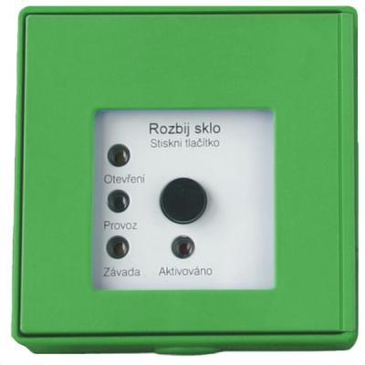 MHA-901-G Tlačítkový hlásič speciální se 4 LED pro požární odvětrávání - zelený