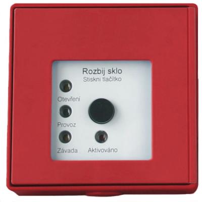 MHA-901-R Tlačítkový hlásič speciální se 4 LED pro požární odvětrávání - červený