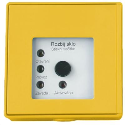 MHA-901-Y Tlačítkový hlásič speciální se 4 LED pro požární odvětrávání - žlutý
