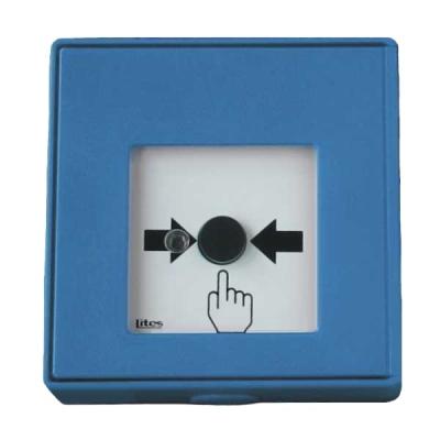 MHA-902-B Tlačítkový hlásič se spínacím kontaktem a LED signalizací - modrý
