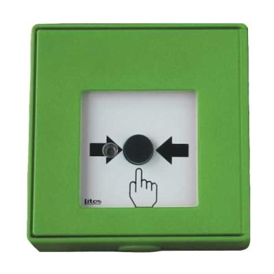 MHA-903-G Tlačítkový hlásič bez aretace, spínací s LED signalizací - zelený