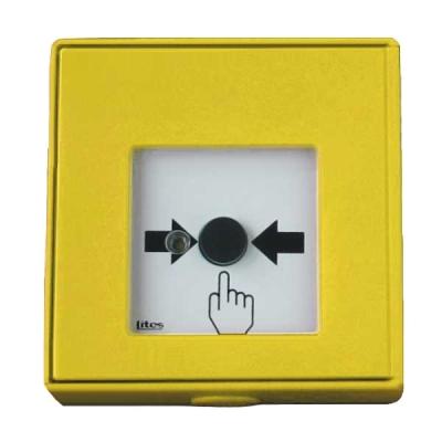 MHA-903-Y Tlačítkový hlásič bez aretace, spínací s LED signalizací - žlutý
