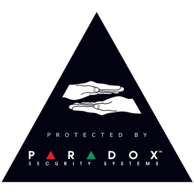 """Nálepka """"PARADOX"""" černá Černá nálepka výrobce PARADOX, pod sklo i na povrch"""