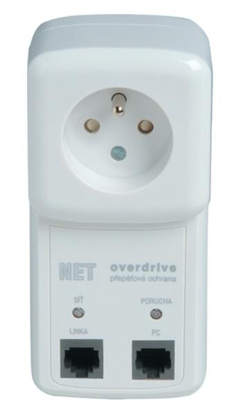 NET-OVER-F6 Přepěťová ochrana s VF filtrem pro LAN rozvody a zásuvku 230V