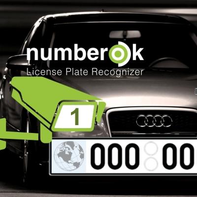 NOK-ENTERPRISE-1-ALL Licence SW rozpoznávání registračních značek na 1 kameře (CELÝ SVĚT)