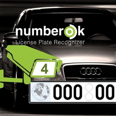NOK-ENTERPRISE-4-ALL Licence SW rozpoznávání registračních značek na 4 kamerách (CELÝ SVĚT)