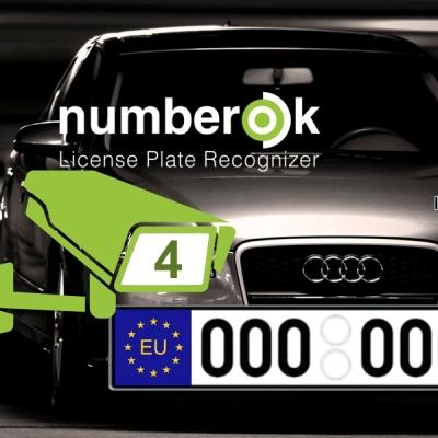 NOK-LITE-4-EU Licence SW rozpoznávání registračních značek na 4 kamerách (EU)