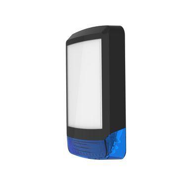 ODYSSEY-X1-BL/B Černý obdélníkový kryt sirény s modrým blikačem
