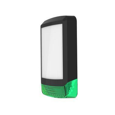 ODYSSEY-X1-BL/G Černý obdélníkový kryt sirény se zeleným blikačem