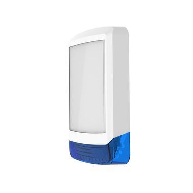 ODYSSEY-X1-WH/B Bílý obdélníkový kryt sirény s modrým blikačem