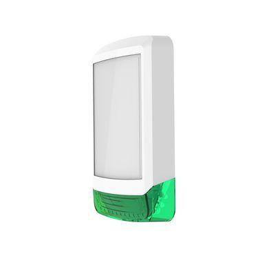 ODYSSEY-X1-WH/G Bílý obdélníkový kryt sirény se zeleným blikačem
