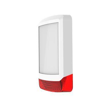 ODYSSEY-X1-WH/R Bílý obdélníkový kryt sirény s červeným blikačem