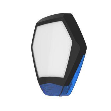 ODYSSEY-X3-BL/B Černý šestihranný kryt sirény s modrým blikačem