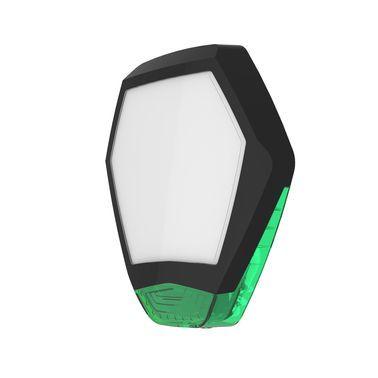 ODYSSEY-X3-BL/G Černý šestihranný kryt sirény se zeleným blikačem