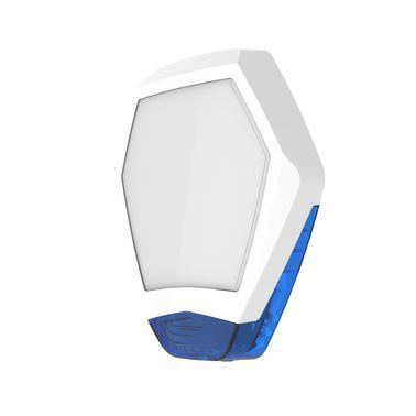 ODYSSEY-X3-WH/B Bílý šestihranný kryt sirény s modrým blikačem
