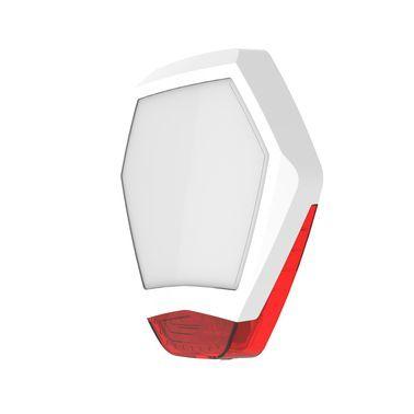 ODYSSEY-X3-WH/R Bílý šestihranný kryt sirény s červeným blikačem