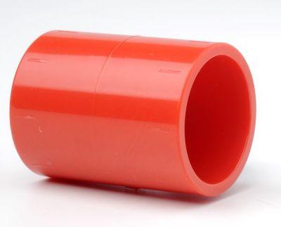 PIP-002 Červená přímá spojka pro trubky 25mm