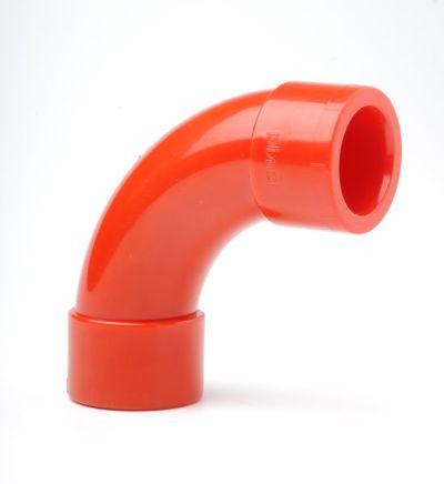 PIP-005 Červené koleno 90st pro trubky 25mm