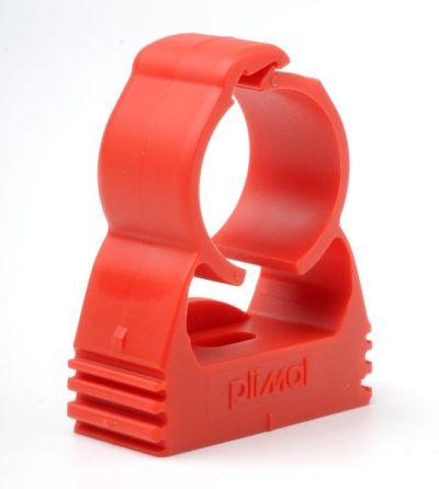 PIP-009 /20 Balení 20ks červených příchytek pro trubku 25mm