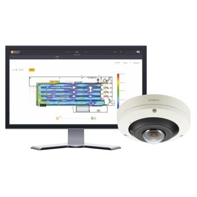 PNF-9010R/FHM IP kamera 12MPx dome rybí oko 360° WiseNet P, teplotní mapa provozu FACIT