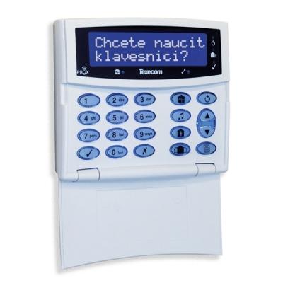ELITE-LCDLP-W Bezdrátová plně systémová klávesnice s LCD displejem