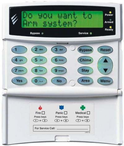 PR-LCDL-P Ovládací klávesnice s velkým LCD displejem a PROXI čtečkou