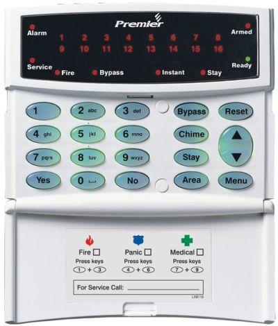 PR-RKP-16+ Ovládací klávesnice s LED signalizací