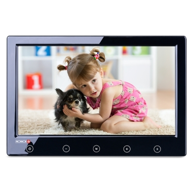 """PR-TFT9HD-BL Barevný LCD monitor 9"""", 2x AV, černý"""