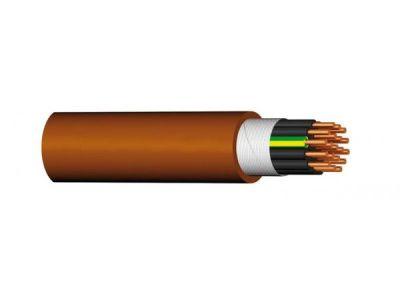 PRAFlaDur-2x1.5 Hnědý silový kabel 2x1.5 s požární odolností, délka dle objednávky