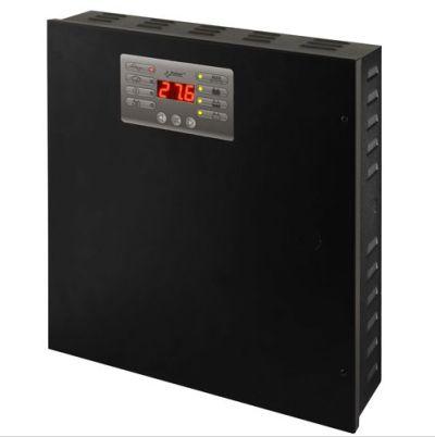 PSBEN-5012C Zdroj 13,8V v krytu s prostorem pro AKU 17Ah, proud 5A, výstupy, LED displej