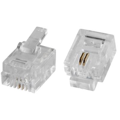 RJ11-LP 6/4 Telefonní konektor MODULAR, 6/4 piny, šíře 9.65 mm
