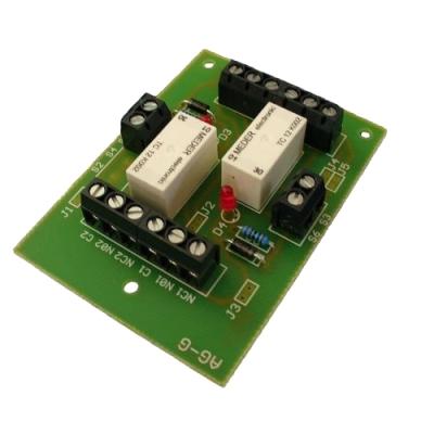 RO-2-GL 12V dvojitý reléový obvod smožností nastavení vzájemné vazby