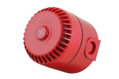 ROLP/R/D Dvoutónová červená plastová siréna, vysoká EN54-3