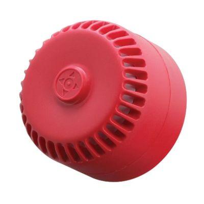 ROLP/R/S Dvoutónová červená plastová siréna, nízká EN54-3