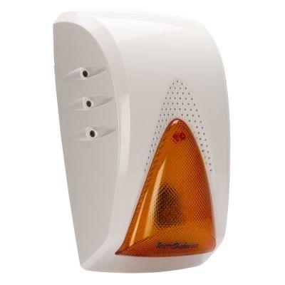 SAEL-500-BWL Bezdrátová siréna s oranžovým LED blikačem, 103db @ 1m, bílá
