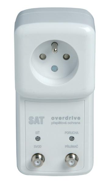 SAT-OVER-F6 Přepěťová ochrana s VF filtrem pro satelitní vedení a zásuvku 230V