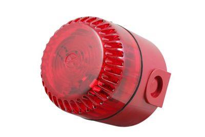 SO/R/DR/10C Červený plastový zábleskový maják, vysoký, s červenou čočkou