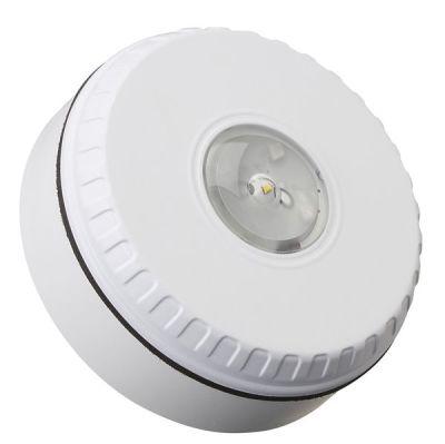SOL-LX-C/RF/W1/S Bílý plastový LED maják s červenými záblesky, stropní EN54-23