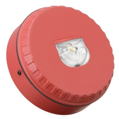 SOL-LX-W/RF/R1/S Červený plastový LED maják, nízký na stěnu, EN54-23