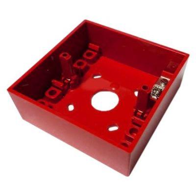 SR-MOUNTING-BOX/R Červený zadní kryt pro povrchovou montáž tlačítek HCP-E-SCI(HFP)