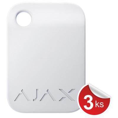 Tag-W-3 RFID přívěšek bílý, balení 3ks