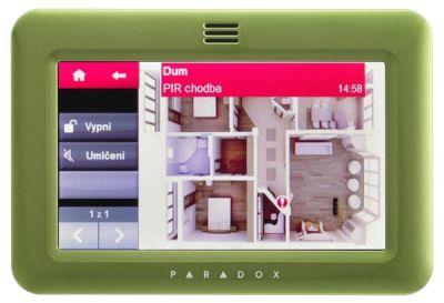 """TM50 - zelená Barevná grafická 5"""" dotyková klávesnice zelená"""
