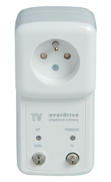 TV-OVER-F6 Přepěťová ochrana s VF filtrem pro televizní vedení a zásuvku 230V