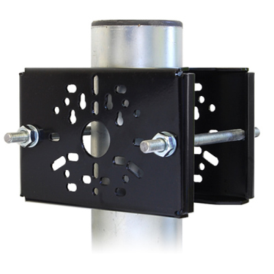 WAA-105BL Univerzální adaptér pro montáž 2 kamer nebo konzol na sloup, černý